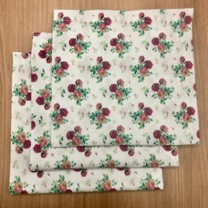 Guardanapo floral bordo verde