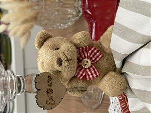 Urso placa Eu te Amo