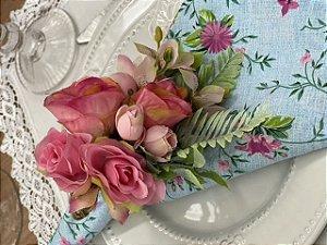 Porta Guardanapo Bouquet Rosa