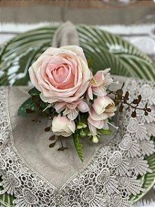Porta guardanapo Bouquet Rosa Luxo