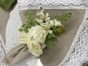 Porta Guardanapo Bouquet Branco