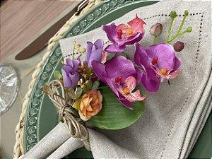 Porta Guardanapo Mini Orquídea Pink
