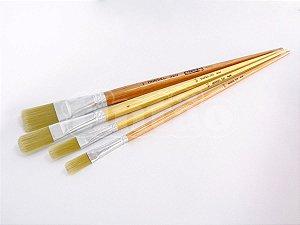 Pincel 320 Chato Longo Sintético Dourado Brilhante (Marsel/TIGRE)