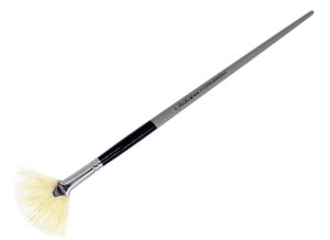 Pincel 813 Leque Cerda Branca Bristle (Pinctore/TIGRE)