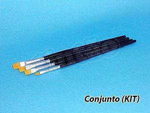 Kit para Cerâmica e Artesanato 6257 - 4 pincéis (TIGRE)