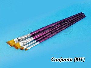 Kit para Pintura em Madeira 6275 - 4 pincéis (Pinctore/TIGRE)