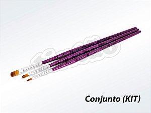 Kit para Pintura em Madeira 6273 - 3 pincéis (Pinctore/TIGRE)