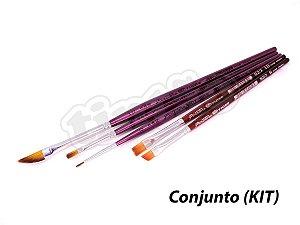 Kit para Pintura em Madeira 6274 - 5 pincéis (Pinctore/TIGRE)