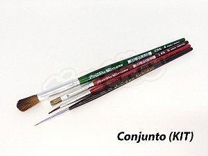 Kit para Pintura Aquarela 6270 - 4 pincéis (Pinctore/TIGRE)