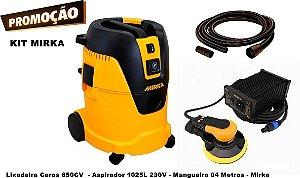 Kit Lixadeira Ceros 650CV Aspirador 1025L 230V e Mangueira 04 Metros - Mirka