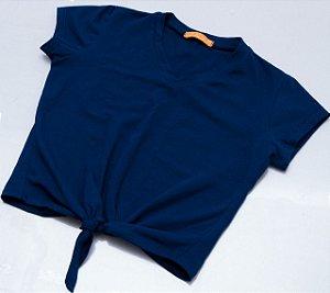 Blusa gola V e nózinho