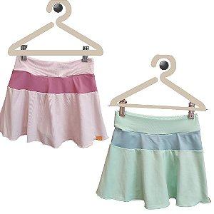Short-saia rodado cores pastéis