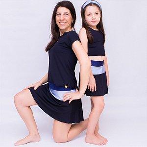 Short-saia Rodado 3 cores mamãe
