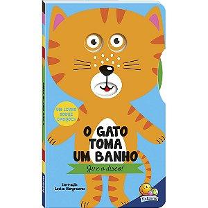 GIRE O DISCO! O GATO TOMA UM BANHO!