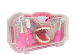 KIT MINI MALETA DENTISTA - ROSA