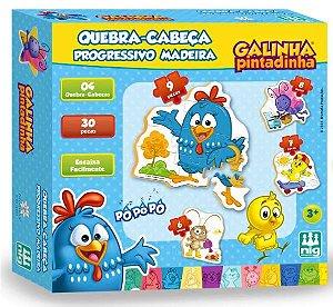 QUEBRA CABEÇA PROGRESSIVO - GALINHA PINTADINHA