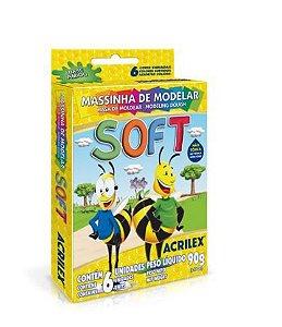 MASSINHA DE MODELAR - SOFT 6 CORES