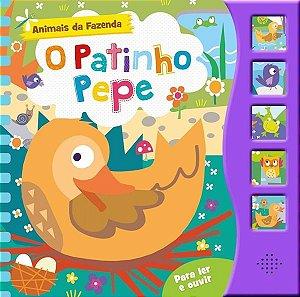 O PATINHO PEPE - ANIMAIS DA FAZENDA COM 5 BOTÕES