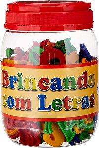 BRINCANDO COM LETRAS POTE COM 173 PEÇAS