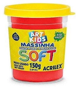 MASSINHA DE MODELAR SOFT VERMELHO - 150G