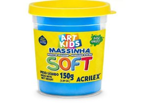 MASSINHA DE MODELAR SOFT AZUL - 150G