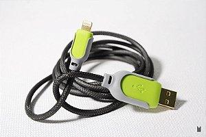 Cabo de Dados - Iphone 5 - 5s - Anti-Chamas - Verde