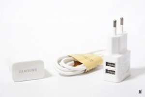 Kit Carregador Duplo 2x1 - Micro USB Branco