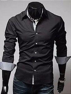 Camisa Slim Fit Masculina Moderna