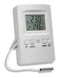 Termômetro digital Temperatura int/ext com funções máx/mín e alarme externo ref 7427