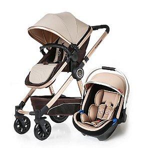 Carrinho de Bebê Stroller Wise 3 em 1 Moisés e Passeio + Bebê Conforto