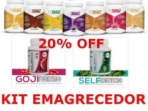 Kit Emagrecedor i9Life SHAKE + SELF DETOX +GOJI BERRY