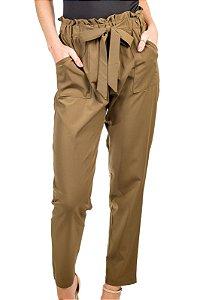Calça de Tecido Amarração Verde Militar