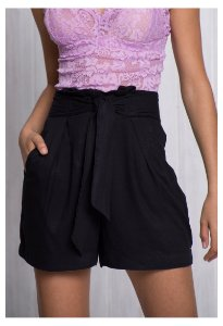Short Cintura Alta Clochard Preto