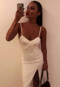 Vestido de Alça Midi Branco