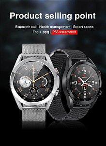 Smartwatch L19 Chamada Notificações Fitness Calendario Calculadora Cronometro Saude Foto Galeria