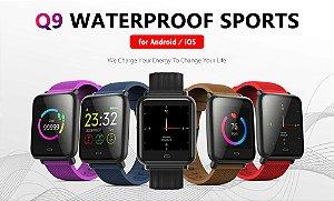 Smartwatch Q9 impermeável esportes relógio inteligente para Android / iOS
