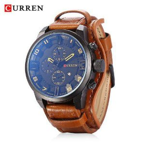Relógio CURREN 8225 Cores Quartz Homem Casual P.Entrega