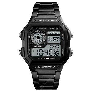 Relógio Skmei 1335 Negócios Masculino personalidade ao ar livre Esportes Quadrado Display Digital Elétrico.