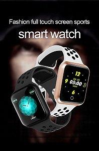 Smartwatch F9 Bluetooth Full Touch P.Arterial Monitor Freq. Cardíaca Esporte P. Entrega