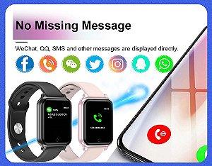 Smartwatch B58 Relógio IP67 Lanc 2020 Waterproof Esportes Notifica Redes Sociais Monitor Cardíaco Pronto Entrega