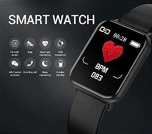 Smartwatch R16 Senbono inteligente freqüência cardíaca monitor de sono fitness pressão arterial redes sociais Pronto Entrega