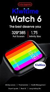 Relogio Smartwatch Iwo W26 44mm 1.75 Pol Tela Infinita Ios Android Telefone Freqüência Cardíaca Temperatura Pressão Arterial