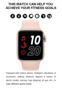 Smartwatch Relógio T500 IWO 13 Série 5 Chamada Bluetooth 44mm Pronto Entrega