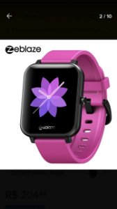 Relógio Smartwatch Zeblaze GTS Tela 1,54 Monitor 60+ Faces ...