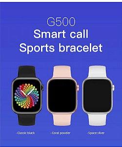 Relogio Smartwatch Iwo G500 44MM ChamadaTemperatura ECG Freqüência Fitness Redes Sociais Bluetooth Rastreador
