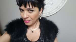 Colar Gargantilha Choker e Brincos Quartzo Rosa, Obsidiana Vulcânica fumê, Conjunto Gato Classic