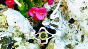 Gargantilha Prata 950 e Cristal Quartzo Cream Magnata Espiral