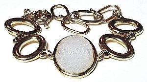 Pulseira Bracelete Quartzo Geodo Drusa 1G
