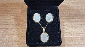 Conjunto de Cristal de Geodo de Rocha de Quartzo Natural Oval
