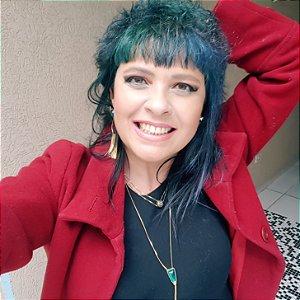 Colar Gravata e Brincos Esmeralda Verdadeira com Quartzo Cristalino Multifacetado e Franja Slim Scandal